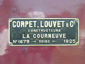 Corpet-Louvet - Image: Plaque Corpet