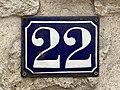Plaque Numéro 22 boulevard Rabelais St Maur Fossés 1.jpg