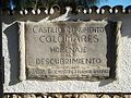 Plaque of Castillo de Colomares.JPG