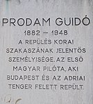 Plaque to Guidó Prodám, 2018 Mátyásföld.jpg