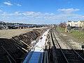 Platform construction at Salem station, April 2015.JPG