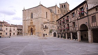 House of Zúñiga - Plaza Mayor with Justice Roll of the Counts of Miranda