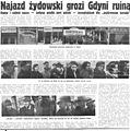 Pod Pręgierz, 1937 r. Najazd żydowski grozi Gdyni ruiną.jpg