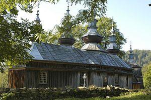 Komańcza - Church before the fire
