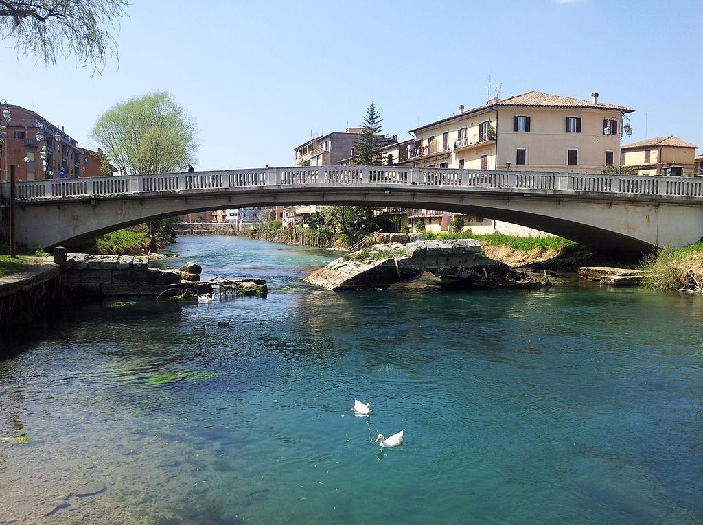 Ponte Romano di Rieti - dalla riva, 2