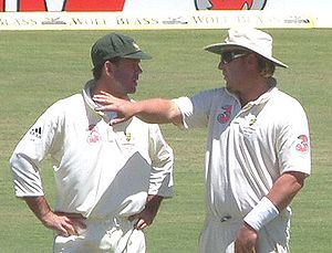 English: Ricky Ponting and Shane Warne
