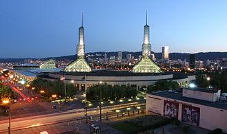 Neighborhoods of Portland, Oregon - The Oregon Convention Center in inner NE Portland.