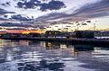 Porto canale , capanni da pesca al tramonto.jpg