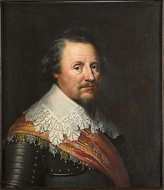 Ernest Casimir I, Count of Nassau-Dietz - Portrait (1633) by Wybrand de Geest, oil on panel, 66.8 × 58 cm, Rijksmuseum, Muiderslot