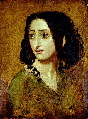 Rachel Félix - Portrait of Mlle Rachel by William Etty, 1840s