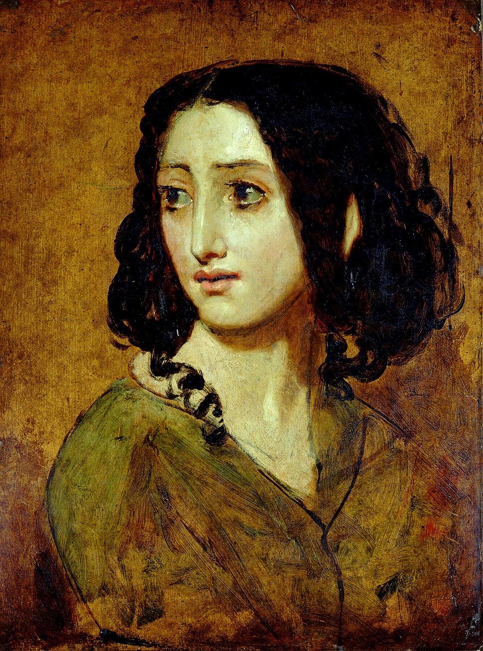 Portrait of Mlle Rachel by William Etty YORAG 988