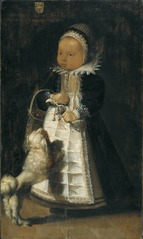 Portrait of a Girl with a Dog