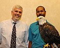Posing for picture with Bald Eagle. (10594187024).jpg