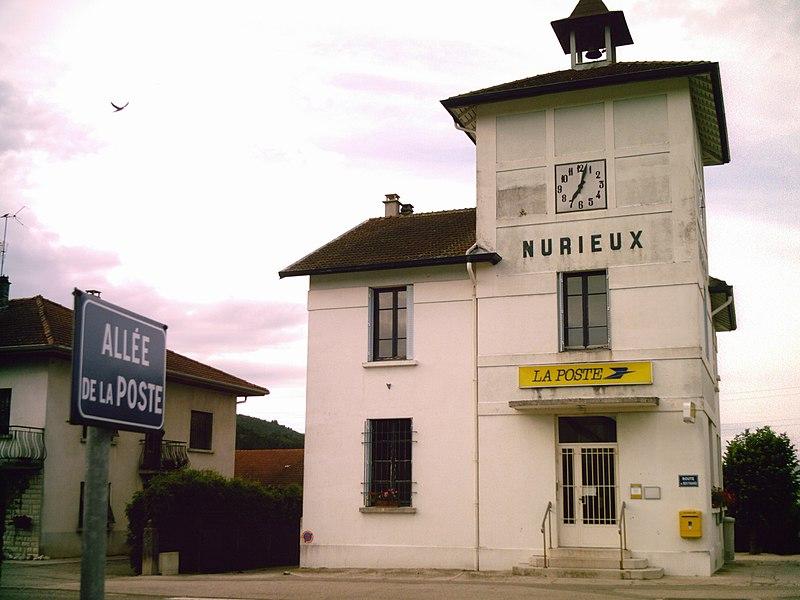Le bureau de Poste de Nurieux-Volognat (Ain, FRANCE)