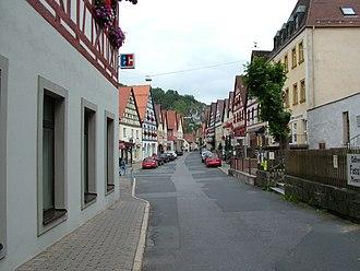 Pottenstein, Bavaria - Image: Pottenstein Strasse