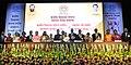 Prakash Javadekar with the recipients of the KVS National Incentive Awards 2016 and the Innovation and Experimentation Awards 2016, at the Kendriya Vidyalaya Sangathan (KVS) foundation day function, in New Delhi.jpg