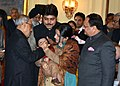 Pranab Mukherjee launching the Nationwide Polio Programme by administering Polio Drops to the Children, at Rashtrapati Bhavan, in New Delhi. The Union Minister for Health & Family Welfare, Shri J.P. Nadda is also seen.jpg