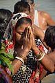 Praying Devotee - Chhath Puja Ceremony - Baja Kadamtala Ghat - Kolkata 2013-11-09 4260.JPG