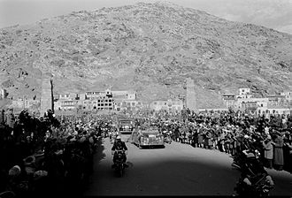 Christianity in Afghanistan - Motorcade for President Eisenhower's visit to Kabul, Afghanistan. United States President Dwight D. Eisenhower visited Afghanistan in 1959