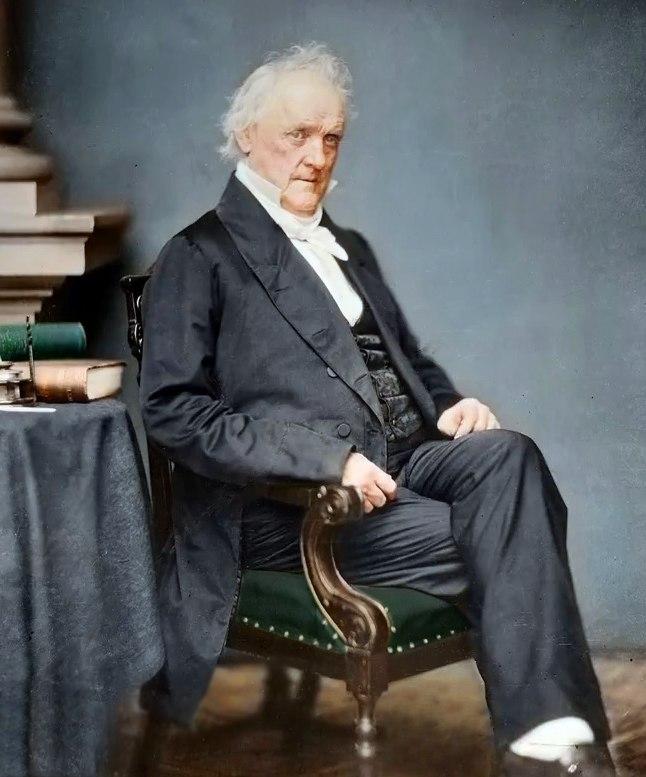 President James Buchanan (NARA 528318) colorized