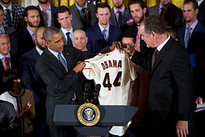 2014 San Francisco Giants season - President Barack Obama meets with  the 2014 World Series champion  San Francisco Giants at the White House
