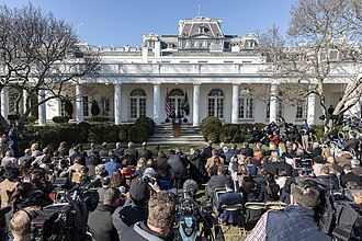 National Emergency Concerning the Southern Border of the United States - President Trump delivers remarks on the emergency declaration from the White House Rose Garden on February 15, 2019.