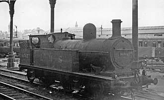 L&YR Class 5 - 46762, the Wirral Railway survivor, at Preston in 1950