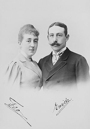 Emich, 5th Prince of Leiningen - Prince Emich of Leiningen with his wife Princess Feodore of Hohenlohe-Langenburg