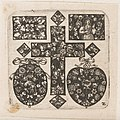 "Print, ""Ornamental Design with Cross at Center,"" Plate 2 from ""Goldsmith Ornament Designs"", ca. 1648 (CH 18677081).jpg"