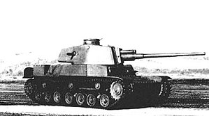 Japanese tanks of World War II - Side view of Type 4 Chi-To prototype, late in the war