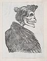 Profile of a female skeleton with a fur vest, from a broaside entitled 'La Calavera de Cupido', published by Antonio Vanegas Arroyo. MET DP869215-1.jpg