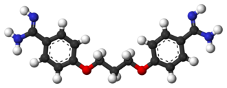 Propamidine - Image: Propamidine 3D balls