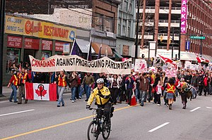 Prorogation in Canada - A march in Vancouver against the second prorogation of the 40th Parliament