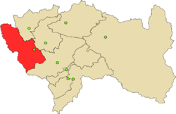 Location of Yauli in the Junín Region
