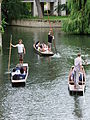 Punting on the Cam, Cambridge, England - DSCF2202.JPG