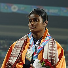 Purnima Hembram Of India, Bronze Medalist, Heptathlon.jpg