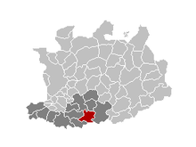 Vị trí của Putte in the province of Antwerp