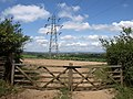 Pylon and gate, Crabadon - geograph.org.uk - 1378827.jpg