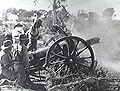 QF 4.5 inch howitzer recoiling AWM P01653.005.jpeg