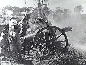 103rd Medium Battery, Royal Australian Artillery - A 4.5-inch howitzer from the 3rd Field Brigade on exercise, 1935.