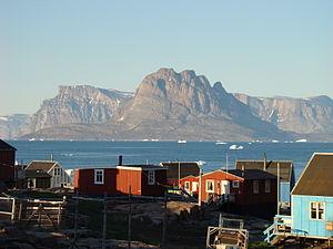 Qaarsut - Image: Qaarsut and Uummannaq's mountain