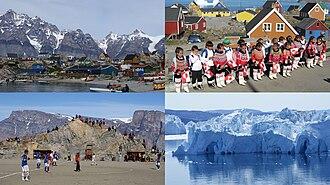 Qaasuitsup - Clockwise from top left: Ukkusissat, Upernavik, Ilulissat Icefjord, Uummannaq