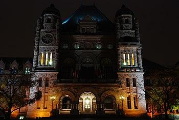 Queen's Park Legislature, Toronto, Ontario.