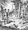 Queen's Rangers under Lieutenant Governor John Graves Simcoe cutting out Yonge Street 1795.jpg