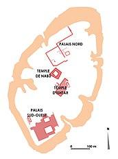 Plan of the Kuyunjik mound in Nineveh