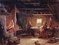 R. W. Ekman, Pentti Lyytinen lukee runojaan talonpoikaistuvassa.jpg