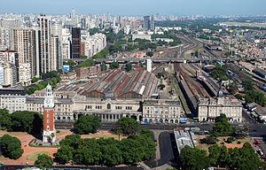 Retiro railway station - Image: RETIRO aerea