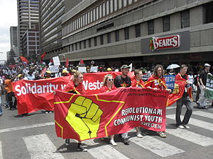 Revolutionary Communist Youth (Sweden) - RKU at the World Festivals of Youth and Students in Pretoria 2010.