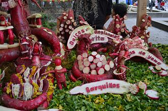 Night of the Radishes - Dulces Tradicionales Oaxaqueños entry at the 2014 Night of the Radishes