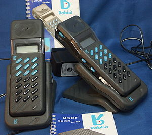 Rabbit CT2 cordless telephones.